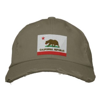 California Republic Embroidered Hat embroideredhat