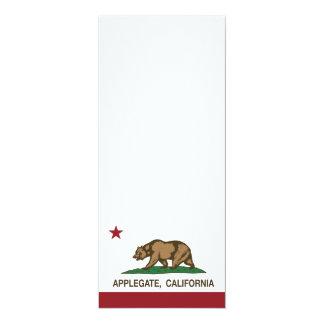 California REpublic Flag Applegate 4x9.25 Paper Invitation Card