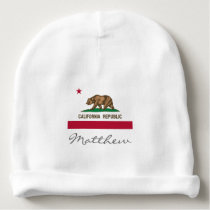 California Republic flag baby hat for boy or girl