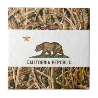 California Republic Flag Bear Camo Tile