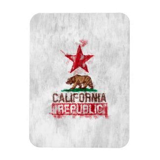 California Republic Flag Bear in Paint Style Decor Magnet