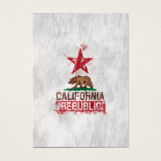 California Republic Flag Bear in Painterly Style Business Card