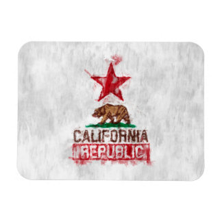 California Republic Flag Bear in Painterly Style Magnet