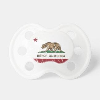 California Republic Flag Bishop Baby Pacifier