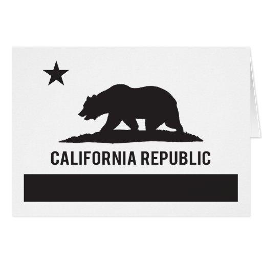 California Republic Flag - Black Card