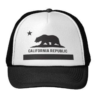 California Republic Flag - Black Trucker Hat