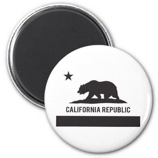 California Republic Flag - Black Refrigerator Magnet