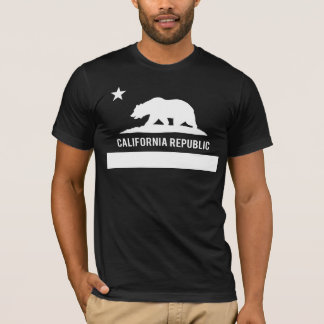 California Republic Flag - Black T-Shirt