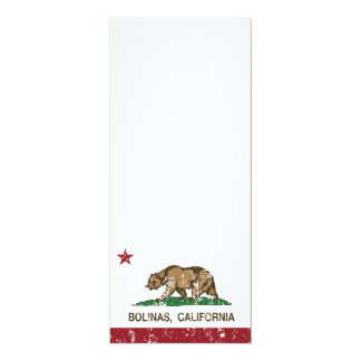 California Republic Flag Bolinas 4x9.25 Paper Invitation Card