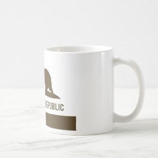 California Republic Flag - Brown Coffee Mug