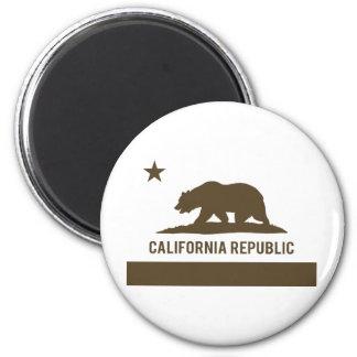 California Republic Flag - Brown Magnet