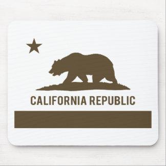 California Republic Flag - Brown Mouse Pad