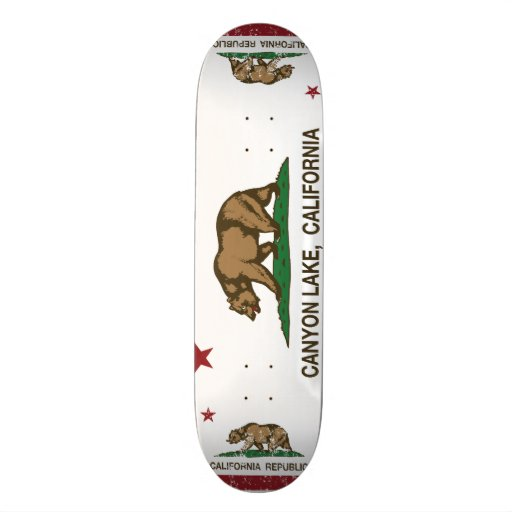 California Republic Flag Canyon Lake Skate Deck
