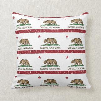 California Republic Flag Castaic Throw Pillow