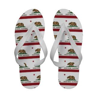 California Republic Flag Cedar Ridge Sandals