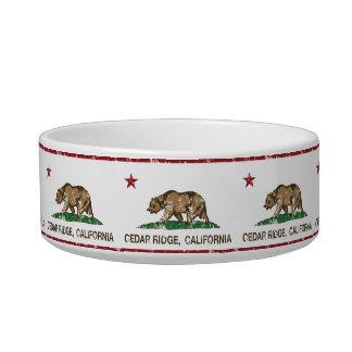 California Republic Flag Cedar Ridge Cat Water Bowl