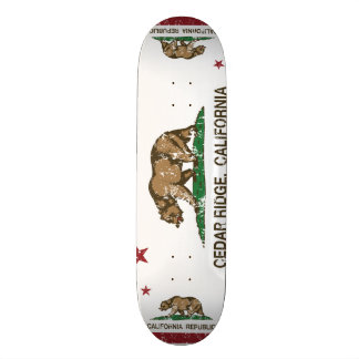 California Republic Flag Cedar Ridge Skate Boards