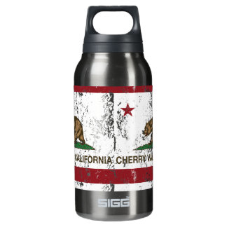 California Republic Flag Cherry Valley Insulated Water Bottle
