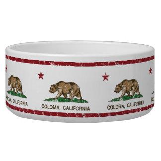 California Republic Flag Coloma Pet Bowl