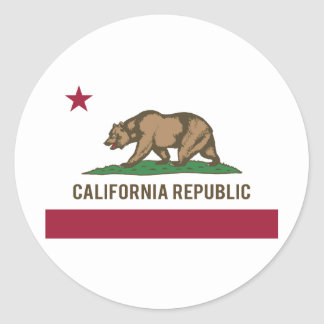 California Republic Flag - Color Classic Round Sticker