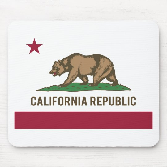California Republic Flag - Color Mouse Pad