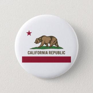 California Republic Flag - Color Pinback Button