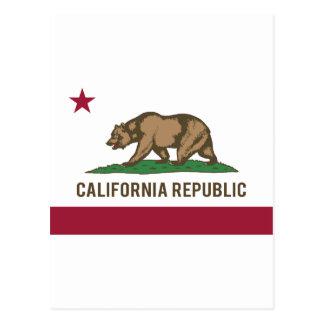 California Republic Flag - Color Postcard