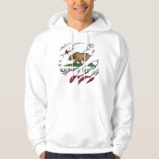 California Republic Flag Customs Hooded Pullovers