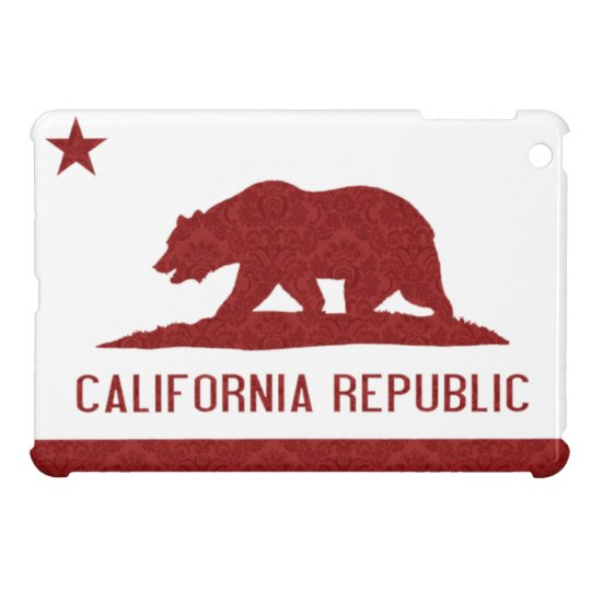 California Republic Flag Damask Pattern Cover For The iPad Mini