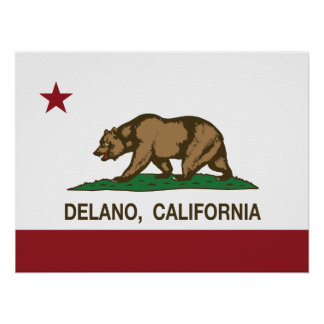 California Republic Flag Delano Poster