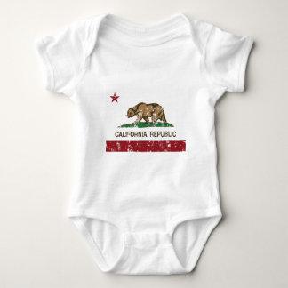 California Republic Flag Distressed Look Baby Bodysuit