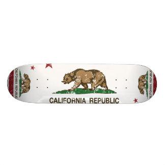 California Republic Flag Distressed Look Skateboard