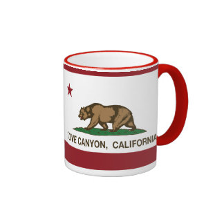 California Republic Flag Dove Canyon Coffee Mugs