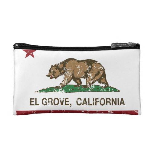 California Republic Flag El Grove Makeup Bags