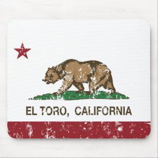 California Republic Flag El Toro Mouse Pad
