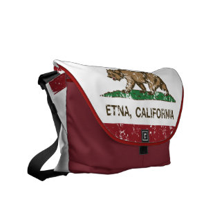 California Republic Flag Etna Courier Bags