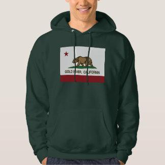 California Republic Flag Gold River Hoodie