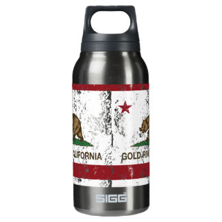 California Republic Flag Gold River Insulated Water Bottle