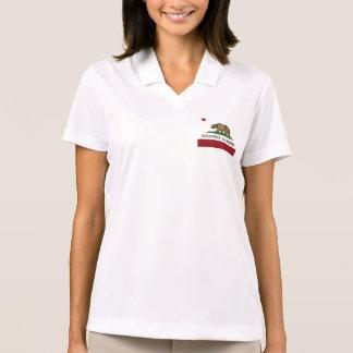 California Republic Flag Gold River Polo Shirt
