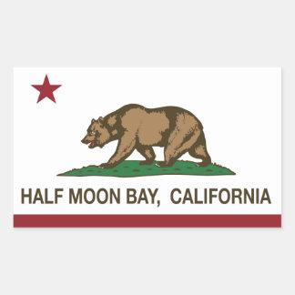 California Republic Flag Half Moon Bay Rectangular Sticker