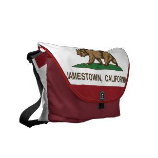 California Republic Flag Jamestown Messenger Bags