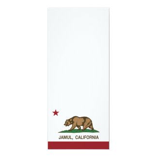 California Republic Flag Jamul Card