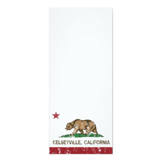California Republic Flag Kelseyville 4x9.25 Paper Invitation Card