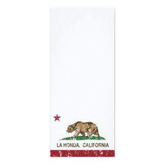 California Republic Flag La Honda 4x9.25 Paper Invitation Card