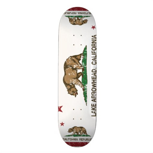 California Republic Flag Lake Arrowhead Skateboard Decks