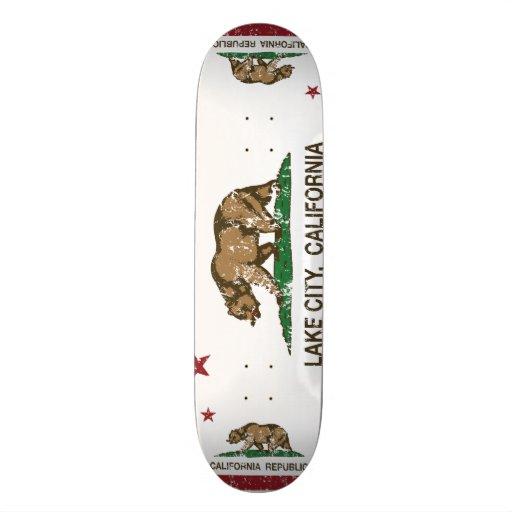 California Republic Flag Lake City Skateboard Deck
