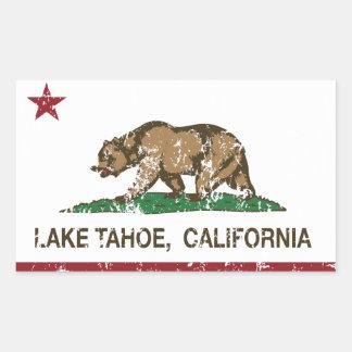 California Republic Flag Lake Tahoe Rectangular Sticker