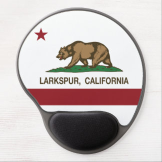 California Republic Flag Larkspur Gel Mouse Pad