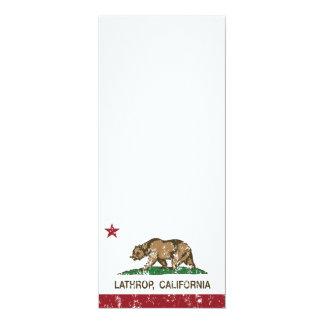 California Republic Flag Lathrop 4x9.25 Paper Invitation Card