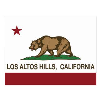 California Republic Flag Los Altos Hills Postcard